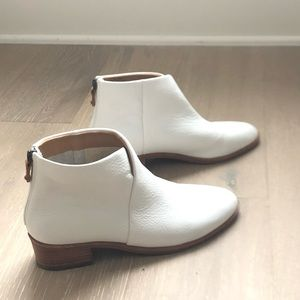 Soludos White Leather Venetian Bootie